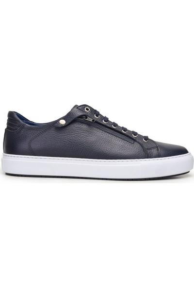 Nevzat Onay Bağcıklı Lacivert Günlük Deri Erkek Ayakkabı