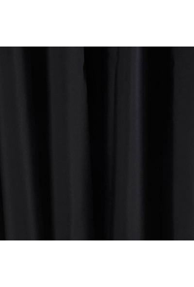 Evsa Home Blackout Karartma Güneşlik Perde Pilesiz V - 5 Siyah - 100x200 cm
