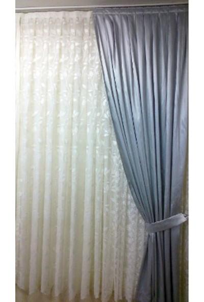 Evsa Home Blackout Karartma Güneşlik Perde Pilesiz V - 5 Gümüş - 100x200 cm