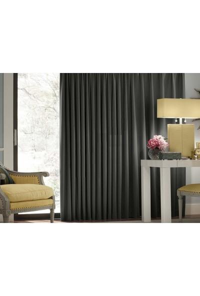 Evsa Home Blackout Karartma Güneşlik Perde Pilesiz V - 6 Koyu Gri - 100x250 cm