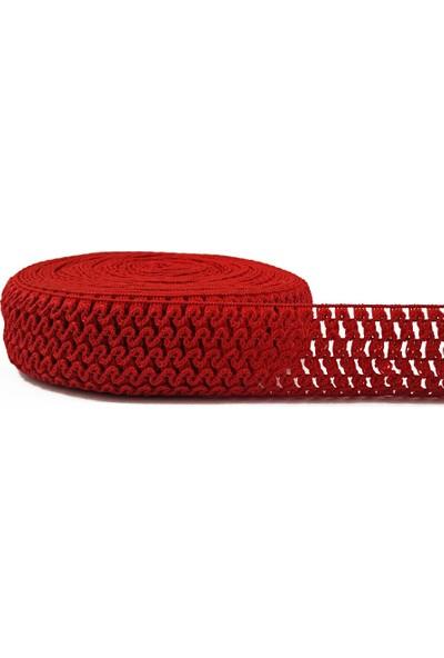 Brode Tütü Ve Bandana Lastiği Kırmızı 1 Metre En: 4cm