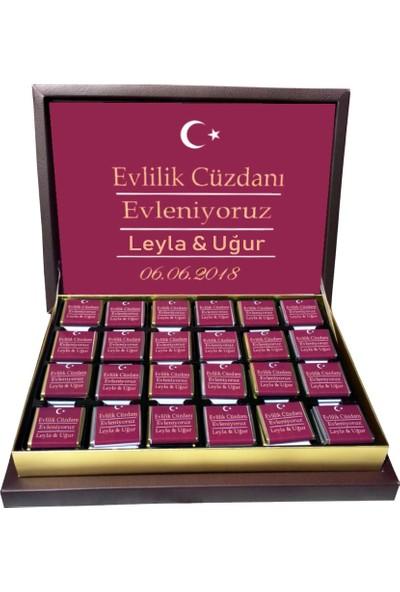 Gondol Çikolata Evlilik Cüzdanı Nişan Nikah Çikolatası