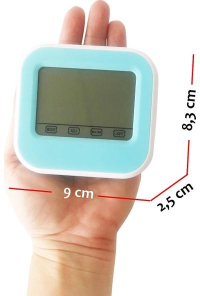 Diwu T026 Dokunmatik Aydınlatmalı Saat Termometre Higrometre