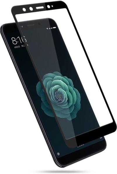 Microsonic Xiaomi Mi 6X Tam Kaplayan Temperli Cam Ekran Koruyucu Film Siyah