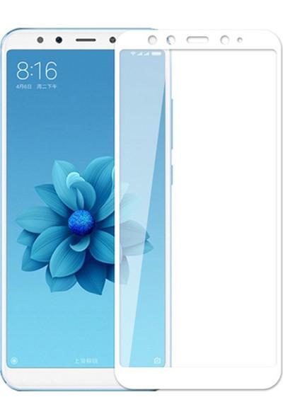 Microsonic Xiaomi Mi 6X Tam Kaplayan Temperli Cam Ekran Koruyucu Film Beyaz