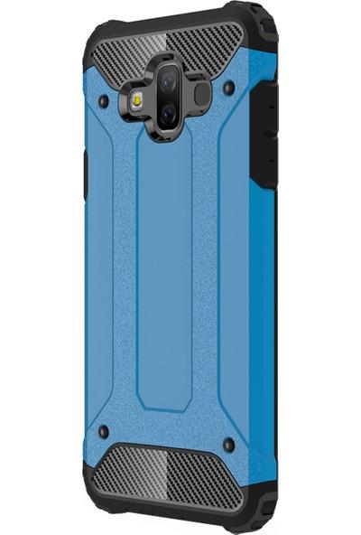 Microsonic Samsung Galaxy J7 Duo Kılıf Rugged Armor Mavi