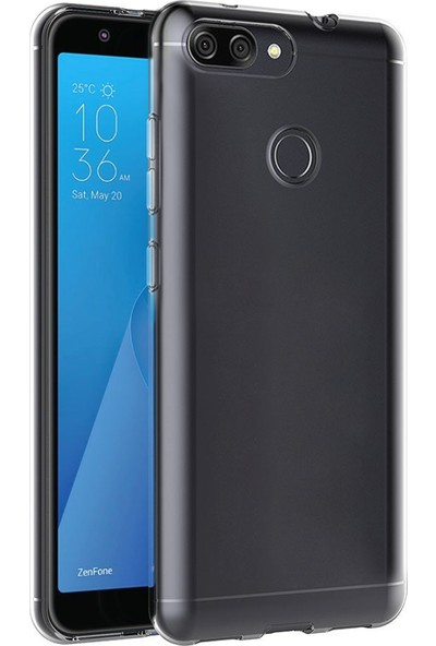 Microsonic Asus Zenfone Max Plus M1 (5.7'') ZB570TL Kılıf Transparent Soft Beyaz