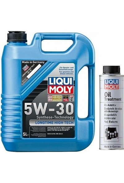 Liqui Moly 5W30 5 Litre Partiküllü Motor Yağı + Yağ Katkısı