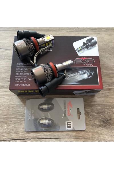 Niken Evo Serisi H11 Led Xenon 8000Lm + T10 Dipsiz Led Ampül