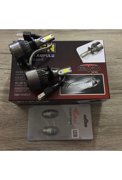 Niken Evo Serisi H7 Led Xenon 8000Lm + T10 Dipsiz Led Ampül