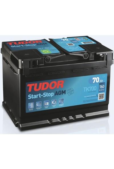 Tudor 12V 70 Ah Amper 760A Start Stop Agm Akü (Üretim Yılı: 2021)