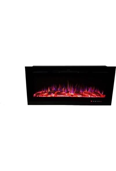 Ateşin Efendisi Elektrikli Şömine BOGE 10 renkli 114' lük Plazma