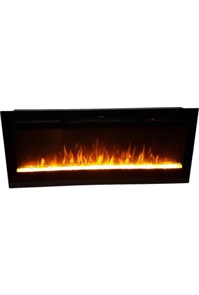 Ateşin Efendisi Elektrikli Şömine BOGE Tek Renkli Kristalli 92' lik Plazma