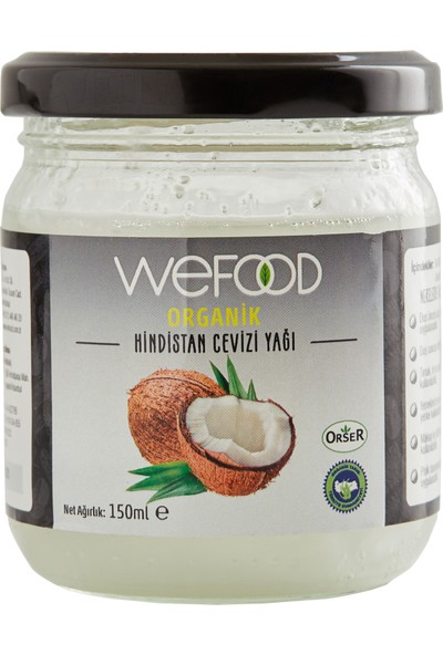 Wefood Sertifikalı %100 Organik Hindistan Cevizi Yağı 150 ml