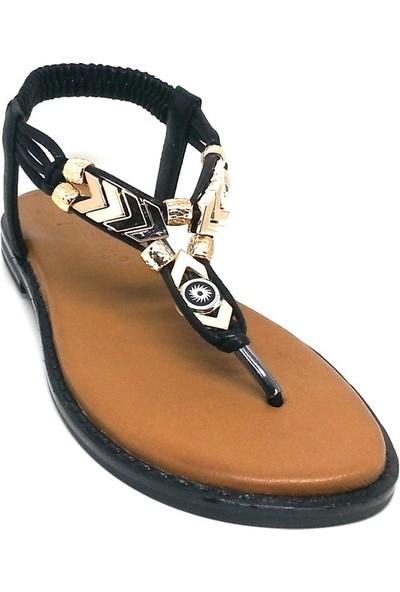 Shop And Shoes 117-600 Kadın Sandalet Siyah