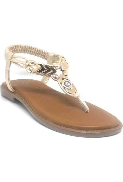 Shop And Shoes 117-600 Kadın Sandalet Altın