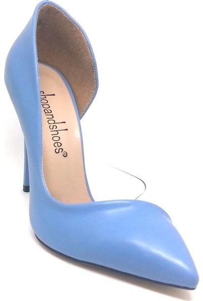 Shop And Shoes 100-1964 Kadın Stiletto Mavi