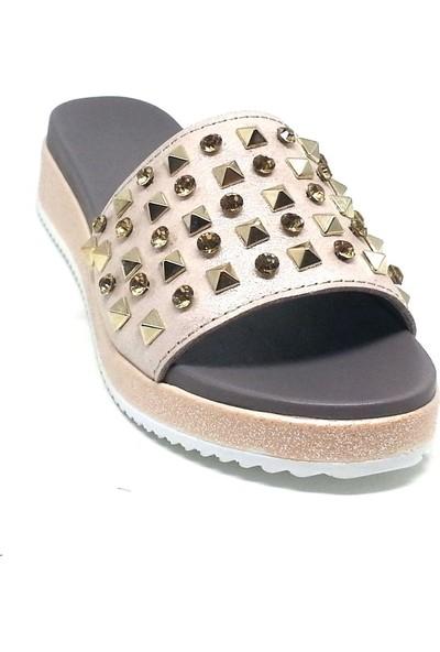 Shop And Shoes 212-8042-3 Kadın Terlik Pudra