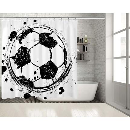Sulu Boya Etkili Futbol Topu Deseni Duşperdesi Fiyatı