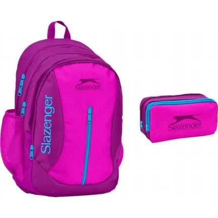 8000e9d8fee4f Slazenger Bordo - Pembe Kız Çocuk Ortaokul - Lise Okul Çanta Fiyatı