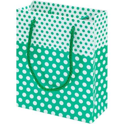 3d6bcda5de6d8 Çanta Boy Özel Puantiye Desenli Su Yeşili Karton Taşıma Çantası - 25'li. ‹ ›