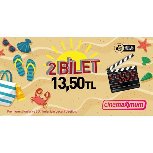 2 Sinema Bileti Tüm Cinemaximum'lar (Premium Sinemalar Hariç - 3D Hariç) - Sinema Bileti