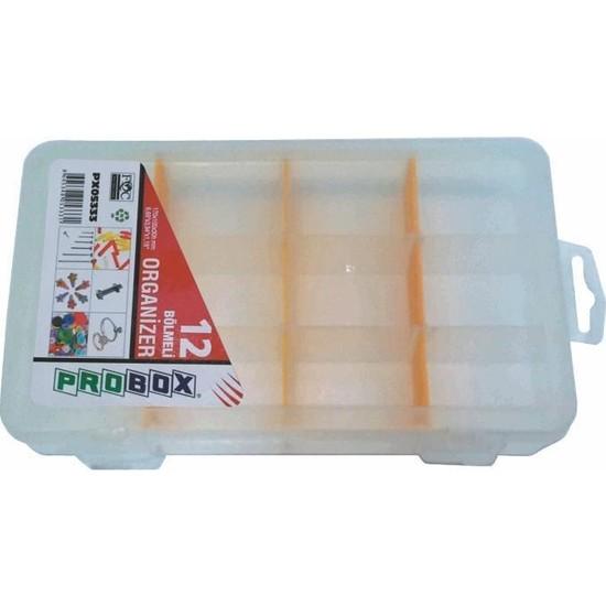 Probox 05333 Plastik Organizer Kutu (12 Bölmeli)