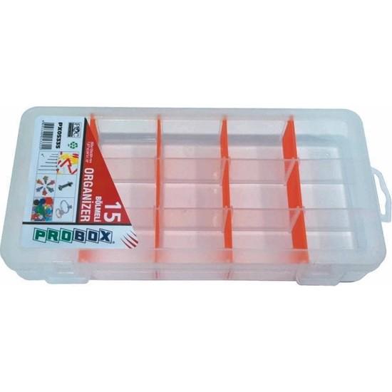 Probox 05335 Plastik Organizer Kutu (15 Bölmeli)