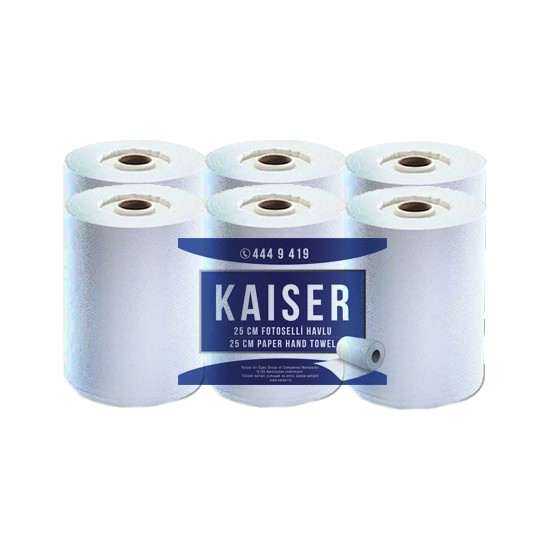 Kaiser 25 cm Fotoselli Oluklu Makina Enmotion Havlu 6 Rulo