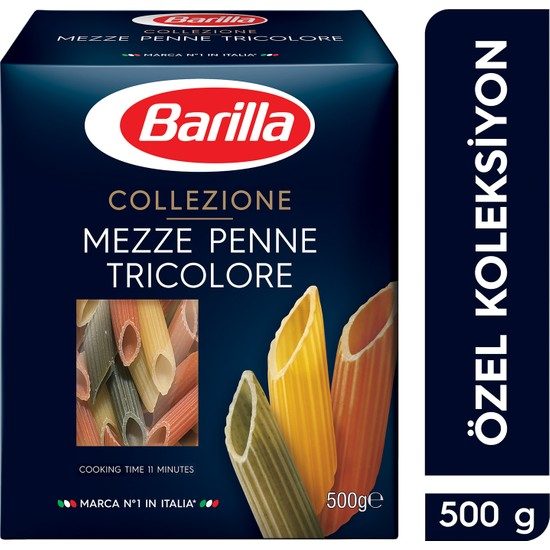 Barilla Üç Renkli Kalem/ Mezze Penne Tricolore Sebzeli Makarna 500 Gr