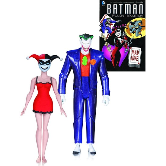 DC Collectibles Batman Animated Series The Joker & Harley Quinn Mad Love Book & Action Figure (2'li Paket)