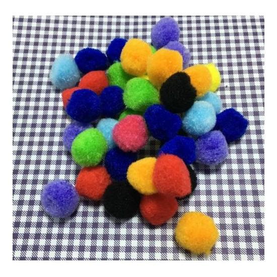 Brode Ponpon 50 Adet Karışık Renkli Ponpon 2 cm
