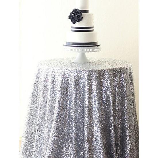 Brode Payet Kumaş 1 Metre Gümüş Pullu Payet Kumaş En 140 cm