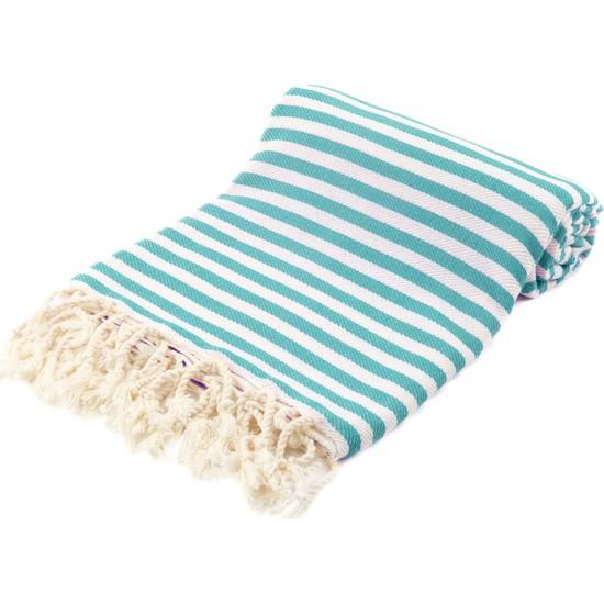 Fringe Towels Çizgili Peştemal Petrol Yeşili
