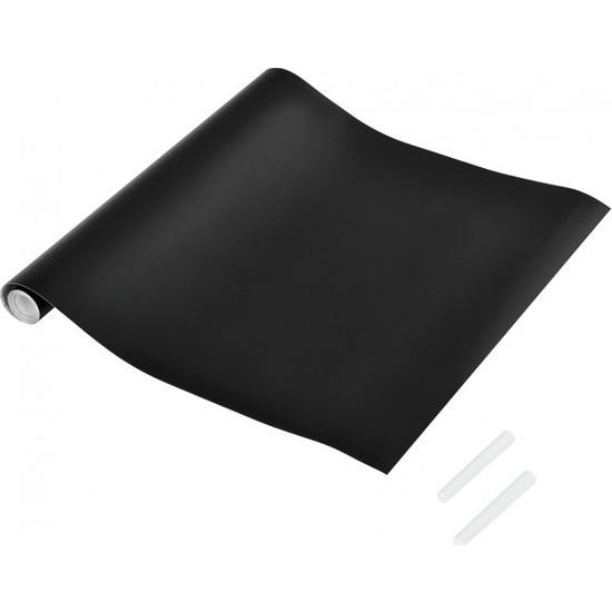 Hdg Kağıt Kara Tahta Kağıt Yazı Tahtası Siyah 70X100 Cm - Çift Taraflı Bant Ve Tebeşir Hediye