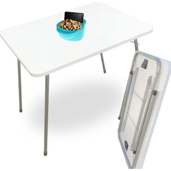 Bino Katlanır Masa Balkon Masası Bahçe Masası Mutfak Piknik Masası