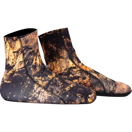 Subzero Stone 3mm 3D Brown Kamuflaj Jarse Dalış Çorabı