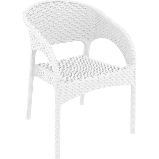 Siesta Rattan Panama Sandalye Beyaz