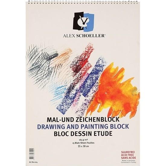 Alex Schoeller Resim Defteri 35X50 Spr. 165 Gr 15 Yp.