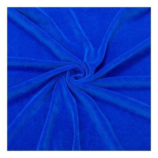 Yavuz Kadife Kumaş Esnek Tek Taraflı Sax Mavi En 1,5 m 1 Metre
