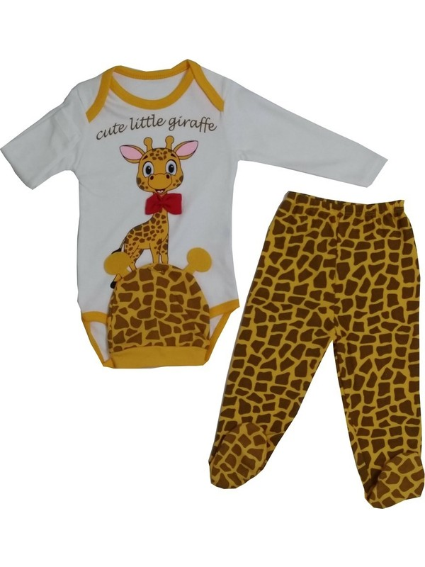 Necix Zürafalı 3'lü Bebek Zıbın Takım