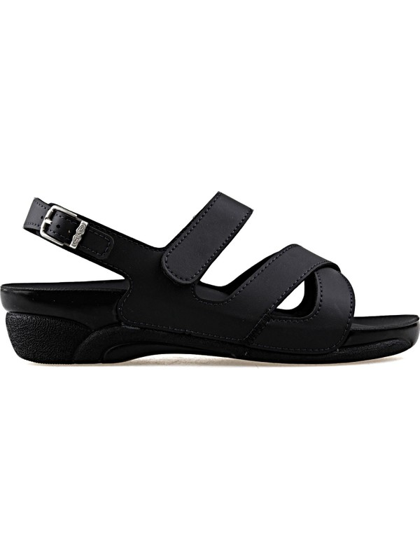 Ceyo Venedık-8-Siyah-K Kadın Sandaleti