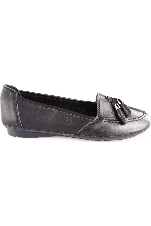 051 Black Women Police Babette Slippers tufted floor Dgn