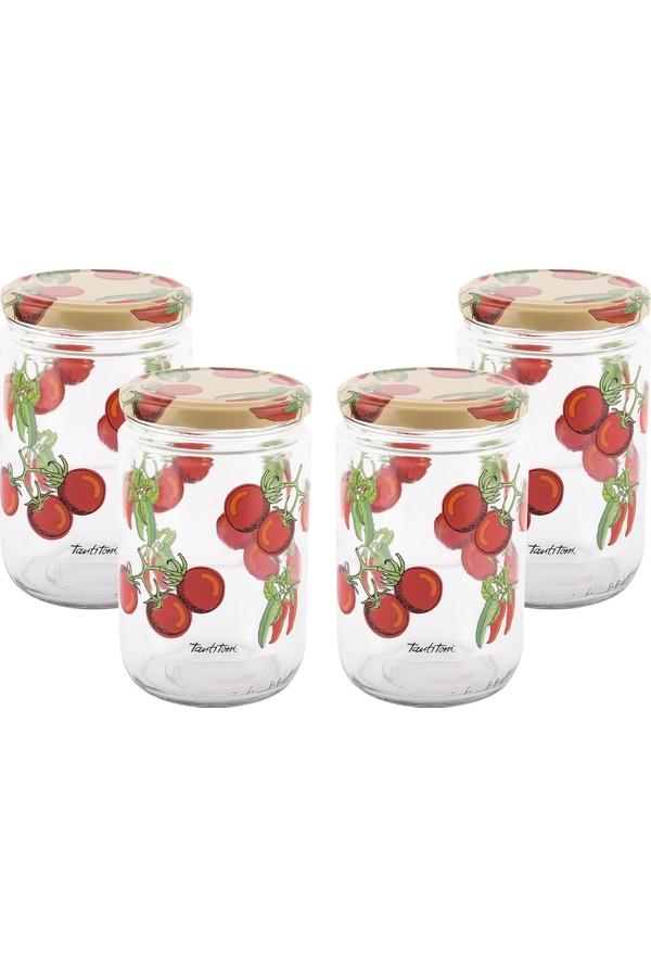 Tantitoni Patterned Glass Jar Set