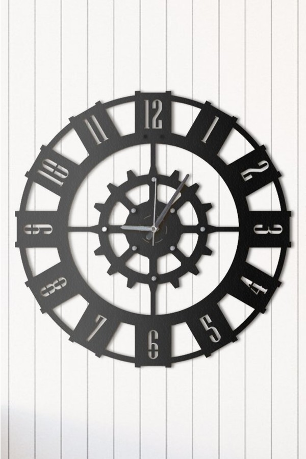 Angemiel Home Wheel Metal Wall Clock Decoration Home And Office