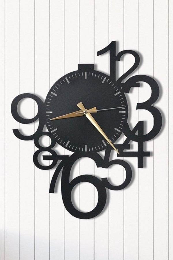 Angemiel Home Metal Wall Clock Against Time Home And Office Decoration