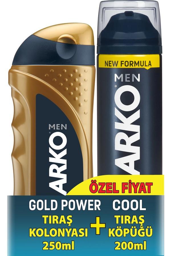 Arko Gold Shaving Cologne + Shaving Foam