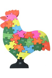 Wooden Toys Wooden Chicken Shaped Puzzle 26 Pieces