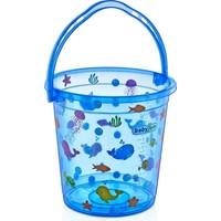 Babyjem Desenli Bebek Banyo Kovası Mavi