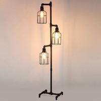Dekorle Kuş Kafesi Modeli 3 Ampullü Dekoratif Endüstriyel Boru Lambader - DLLD01124
